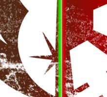 Jedi vs sith emblem split Sticker