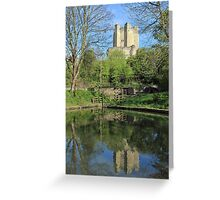 Conisbrough Castle Reflections  Greeting Card