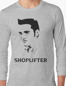 The Smiths Shoplifter Elvis Morrissey Cartoon Long Sleeve T-Shirt