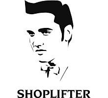 The Smiths Shoplifter Elvis Morrissey Cartoon Photographic Print