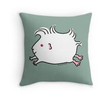 Leaping Guinea-pig ... Albino Throw Pillow