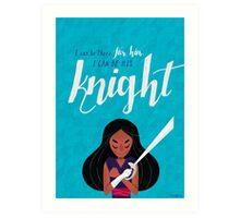 His Knight - Connie Art Print