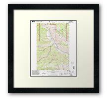 USGS Topo Map Washington State WA Nile 242823 2000 24000 Framed Print
