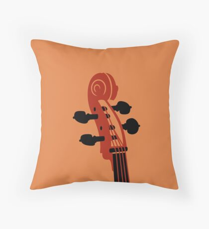 Cello Scroll VRS2 Throw Pillow