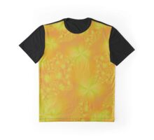Orange and Yellow Abstract Flowers Graphic T-Shirt