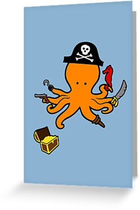 Pirate Octopus by jezkemp
