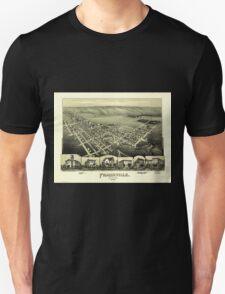 Panoramic Maps Frackville Pennsylvania Unisex T-Shirt