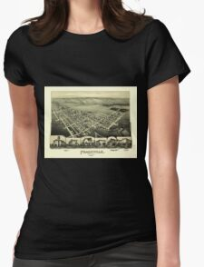 Panoramic Maps Frackville Pennsylvania Womens Fitted T-Shirt