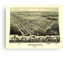 Panoramic Maps Frackville Pennsylvania Canvas Print