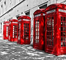 London Telephone Boxes. by Paul Knowles