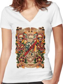 Informative Signs - Set 01 - Smoking Women's Fitted V-Neck T-Shirt