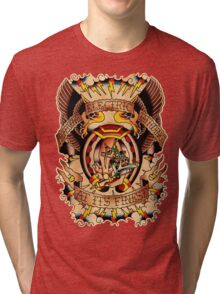 Informative Signs - Set 01 - Electric tattooing Tri-blend T-Shirt