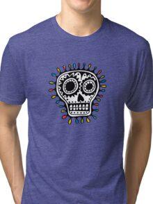 Sugar Skull - sharpie Tri-blend T-Shirt