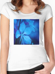 Mom and her little one matching Blue Beauty QTees Women's Fitted Scoop T-Shirt