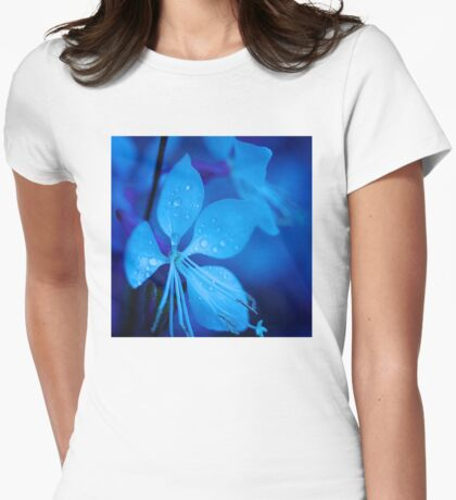 Mom and her little one matching Blue Beauty QTees Womens Fitted T-Shirt