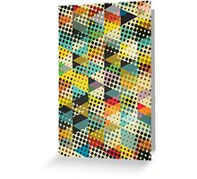 Dots and Triangles II Greeting Card