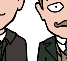 Victorian Sherlock and John (sticker) Sticker