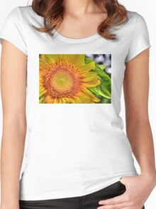 Mom and Baby matching Sunflower QTees Women's Fitted Scoop T-Shirt