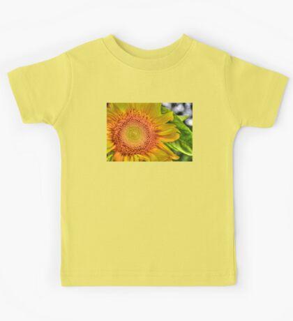 Mom and Baby matching Sunflower QTees Kids Tee