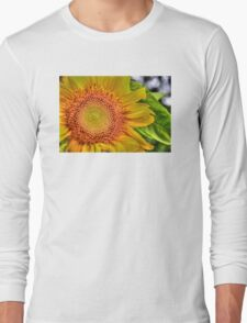 Mom and Baby matching Sunflower QTees Long Sleeve T-Shirt