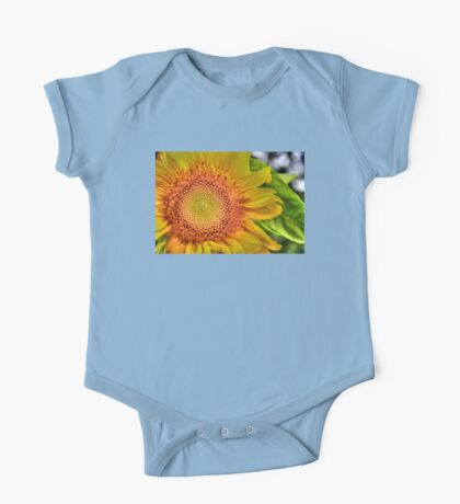 Mom and Baby matching Sunflower QTees One Piece - Short Sleeve