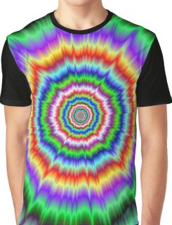 Eye Boggling Explosion Graphic T-Shirt