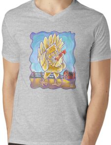 Animal Parade Chicken Mens V-Neck T-Shirt