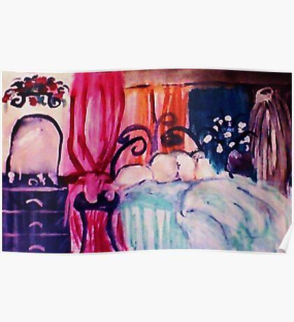 My restful hideaway, watercolor Poster