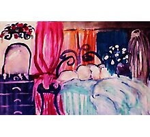 My restful hideaway, watercolor Photographic Print