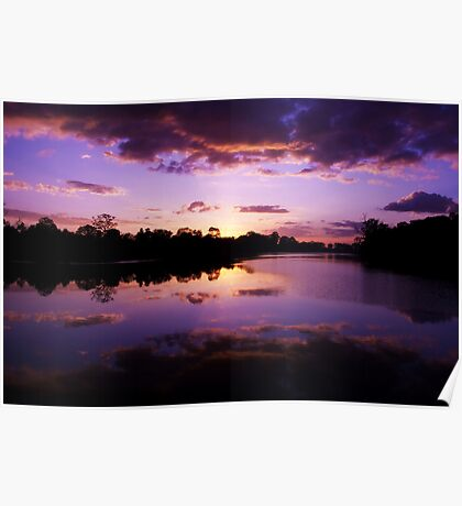 Cambodian Sunset Poster