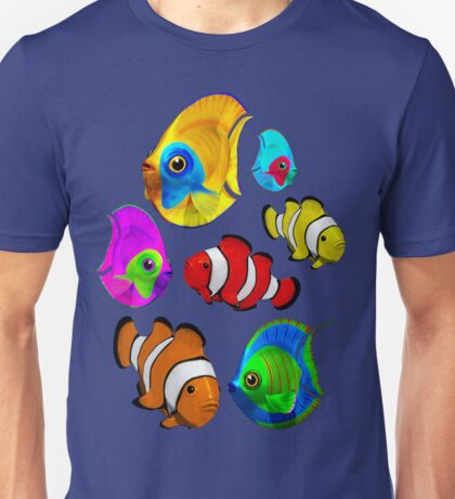 Tropical Fishes Pattern Unisex T-Shirt