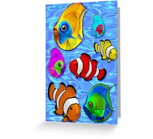 Tropical Fishes Pattern Greeting Card