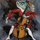 Fish Playing Cello by Ellen Marcus