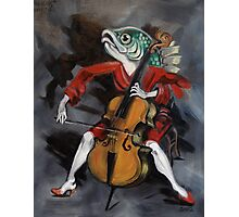 Fish Playing Cello Photographic Print