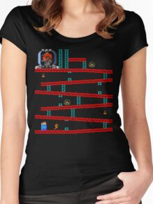 Metroid Kong Women's Fitted Scoop T-Shirt