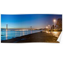 Firth of Forth Bridges at night Poster