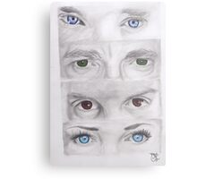 """Sherlock"" Eyes Metal Print"