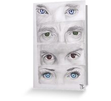 """Sherlock"" Eyes Greeting Card"