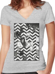 """Who Killed Laura Palmer?"" Women's Fitted V-Neck T-Shirt"