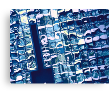 cool blue reflection on mississauga office building Canvas Print