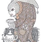The March Hare Awaits by Anita Inverarity
