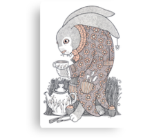 The March Hare Awaits Canvas Print