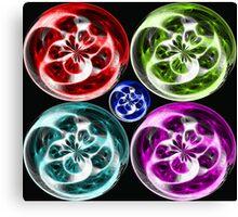 Coloured Globes  Canvas Print