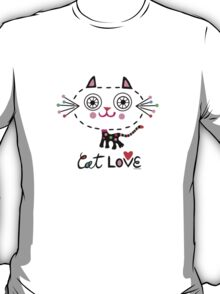 Cat Love - heart T-Shirt