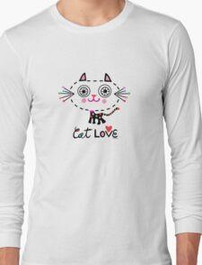 Cat Love - heart T-Shirt
