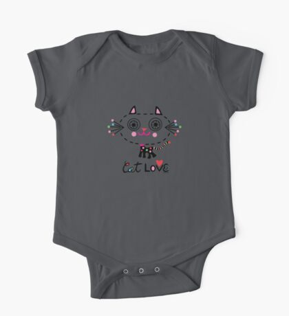 Cat Love - heart Kids Clothes
