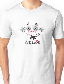 Cat Love - heart Unisex T-Shirt