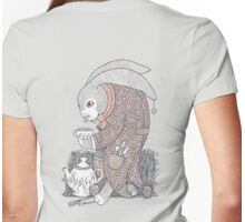 The March Hare Awaits Tee Womens Fitted T-Shirt