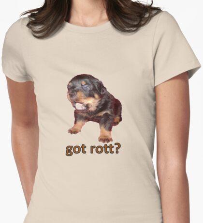 Got Rott? Rottweiler Owner  Womens Fitted T-Shirt
