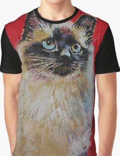 Siamese Cat Portrait Graphic T-Shirt